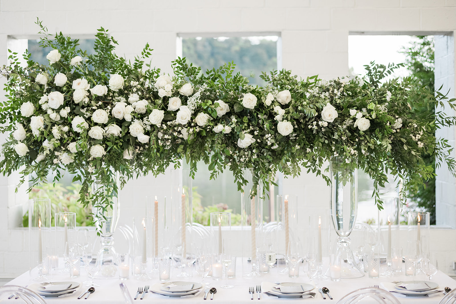 elevated greenery runner alternative centerpiece types